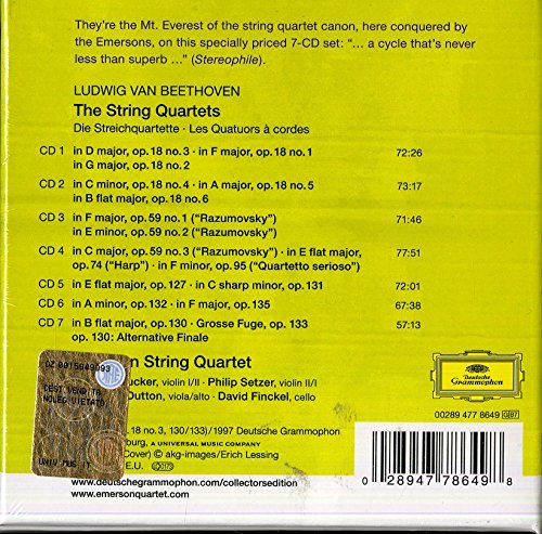 Beethoven: The String Quartets [7 CD Box Set]