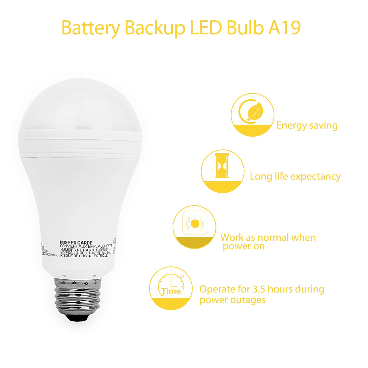 Sengled Everbright Emergency LED Light Bulb with Rechargeable Built ...