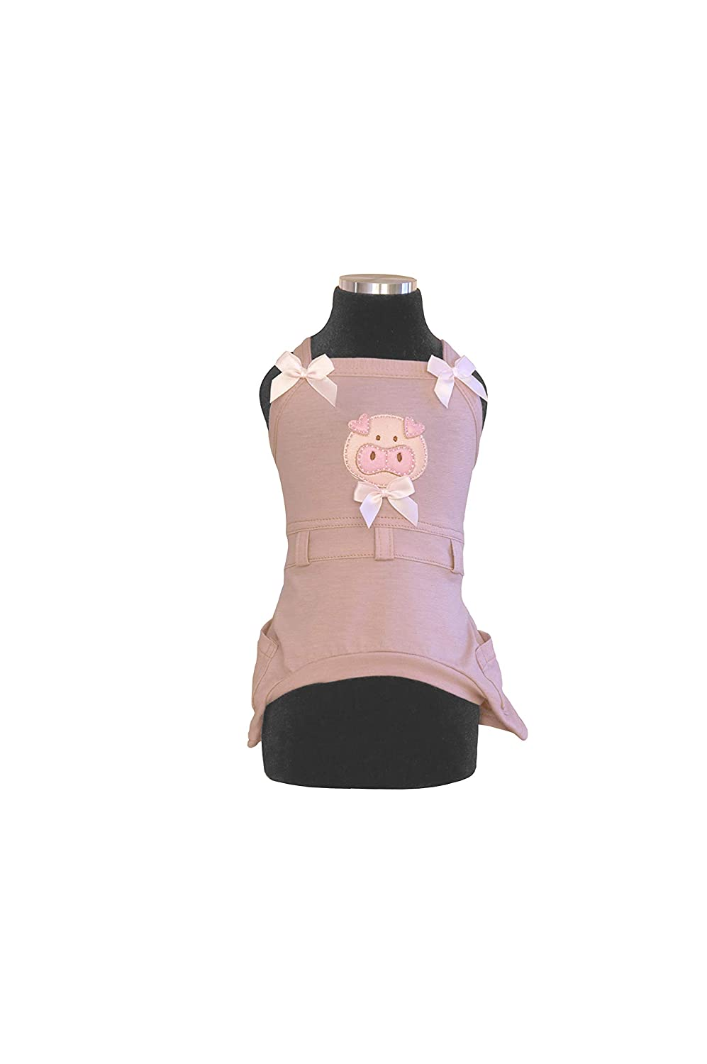 Trilly All Brilli Armida Dungarees Jersey Thermal Application Pig, Pink, XS