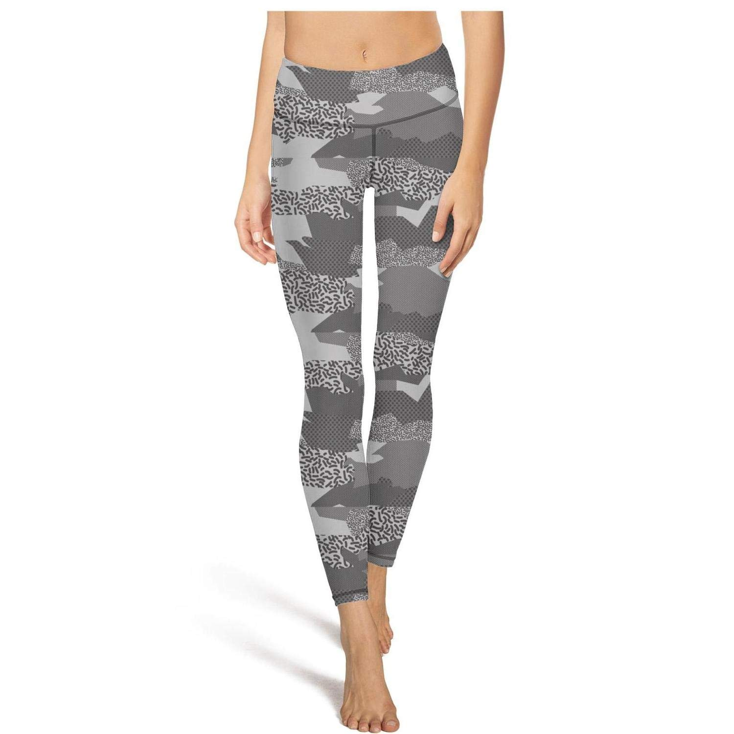ba070ee49a390 Yogalicious Yoga Pants for Womens Capri Leggings Camouflage Collage Art  Army Sport Workout Running Legging Tights at Amazon Women's Clothing store: