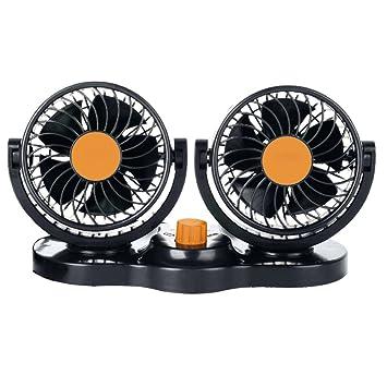 Climatiseur de ventilateur de voiture 360 ° rotatif tournant à faible bruit