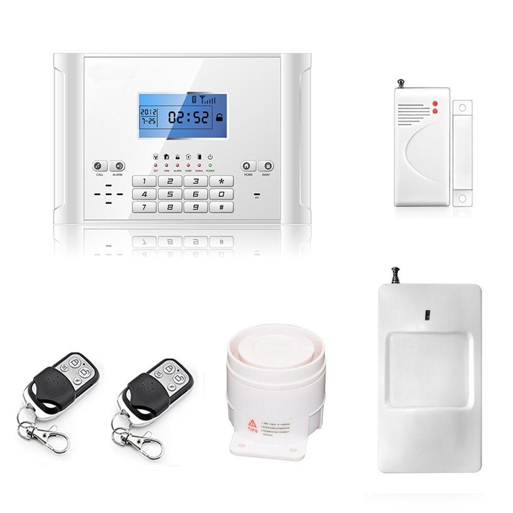ATD® Bewegungsmelder, Magnettürsensoren und 110 Dezibel Sirene, ein komplettes Einbruchschutz GSM Wireless Home Anti Diebstahl Alarmanlage