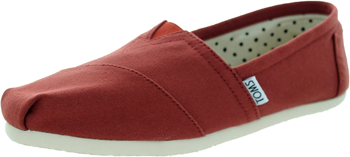 b8fc0734e4 Womens Seasonal Classic Slip-On Shoes. TOMS Classic Picante Red Canvas  Womens 5