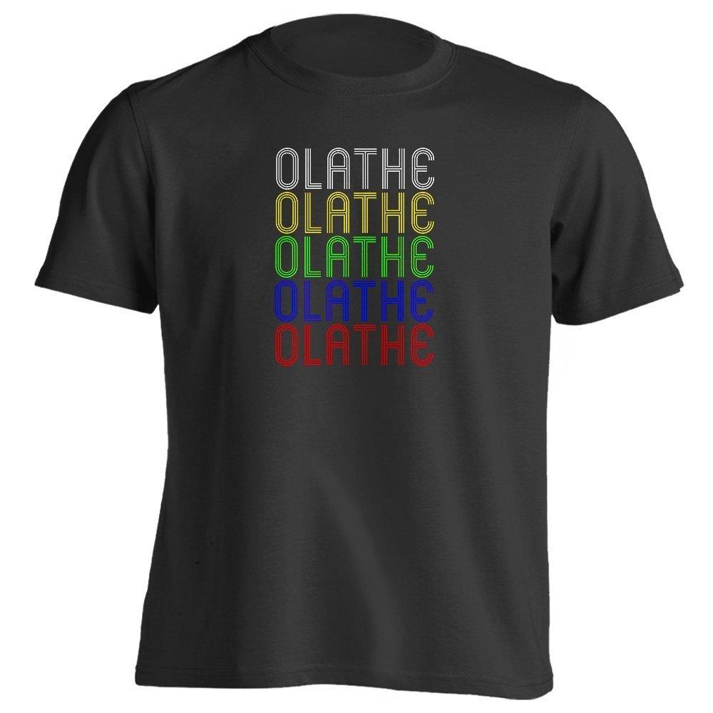 Black Vintage Vintage Vintage Style Retro Hometown - Olathe, KS 66062 - Souvenir - Unisex - T-Shirt 7cc19c