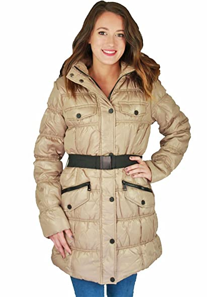 Urban Republic Juniors Long Belted Puffer Faux Down Winter Coat ...