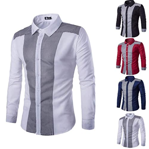 Amazon.com: Amiley - Camisa de manga larga para hombre ...