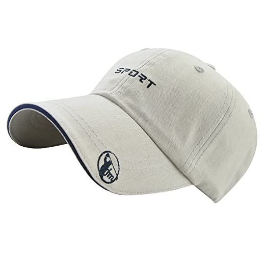 Fityle Cool Personalised Embroidered Baseball Cap Custom Printed Hat Unisex  Women s Mens Cap - Light Grey af76cba9dcad