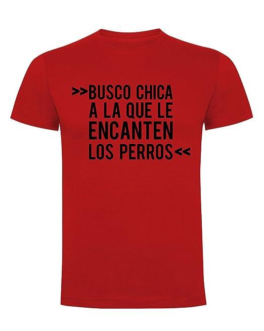 ThePetLover Busco Chica A La Que Le Encanten Los Perros, Camiseta para Hombre: Amazon.es: Ropa y accesorios