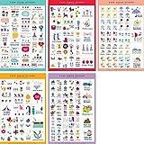 BESTIM INCUK 5 Sheets Decorative Adhesive Sticker Tape Craft Scrapbooking Sticker Set for Diary,Album