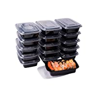 Meal Prep Containers, 50 Pack Disposable Plastic Bento Insulated Lunch Box Reusable...
