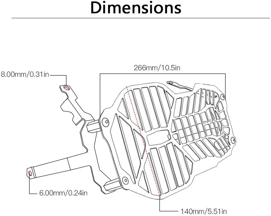Protezione per fanale della Moto WOVELOT Trasparente per BMW R1200GS LC ADV Adventure 2012 2013 2014 2015 2016 2017 2018