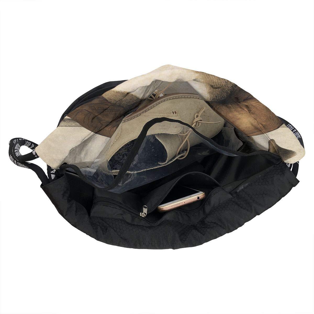 The Dog Boxer Cinch Backpack Sackpack Tote Sack Lightweight Waterproof Large Storage Drawstring Bag For Men /& Women