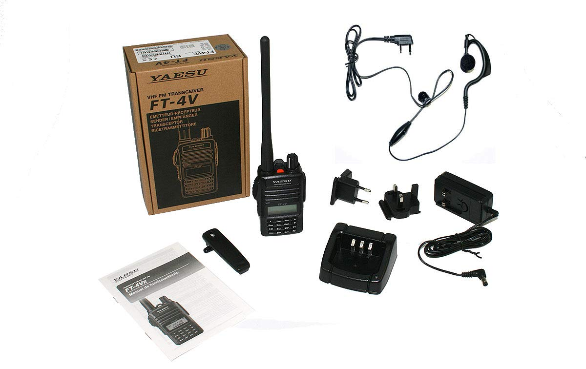 YAESU FT4VE WALKIE Talkie VHF 144-146 MHz Potencia 5 Watios Pinganillo PIN19M !!