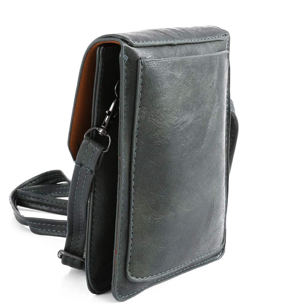 TENXITER Women Hollow Texture Small Crossbody Bags Cell Phone Purse Wallet for Girl (Green)