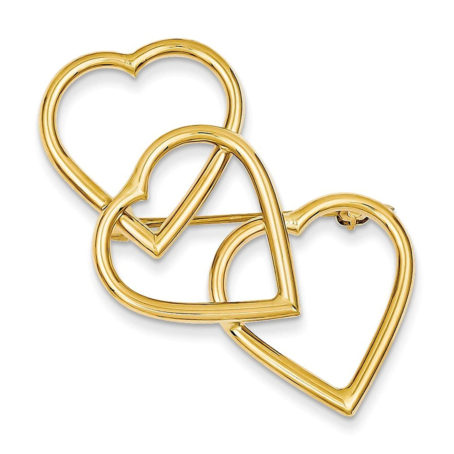14k Solid Yellow Gold Designer Pin
