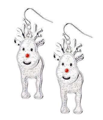 SIX Ohrhänger mit Weihnachtsmotiv, Weihnachtsschmuck, Rentier ...