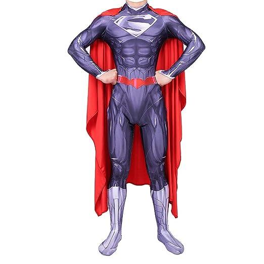 WEGCJU Traje De Superhéro Cosplay Disfraz Nuevo Adulto Superman ...