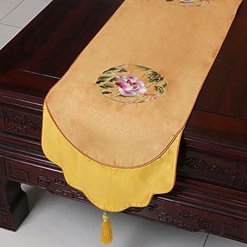 Deutsch Chinesische Tischläuferbestickt Stoff Tischdecketisch