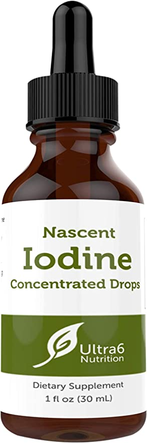 Nascent Iodine Drops for Thyroid Support. A Complete Nascent Iodine Supplement