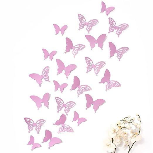 Mariposas 3D Wandkings de color LILA con detalles, conjunto de 12 ...
