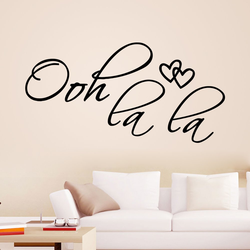 Ooh La La Quote Vinyl Wall Decal Decor Art Sticker LUCKKYY