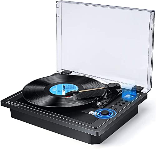 Record Player Turntable Wireless in Out Record Player Built in Stereo Speakers Vinyl Records 3 Speed Turntable Player Support Vinyl-to-MP3 Recording USB SD Player Multifunctional Record Player