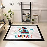dream_home Kids Teepee Mat Children Antiskid Play Mat Baby Crawling Mat Non-slip thicken Carpet- Boys and Girls Game Mat Twin Size with Sides