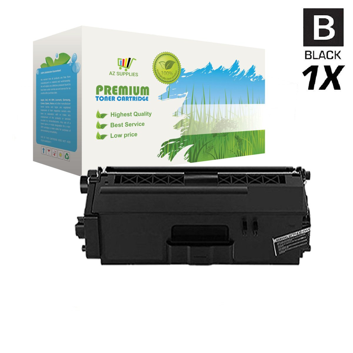 AZ Supplies Toner | 40% more Print Yield | replace Brother TN-336BK Black for use in Brother DCP-L8400CDN, DCP-L8450CDW, HL-L8250CDN, HL-L8350CDW, MFC-L8650CDW, MFC-L8850CDW