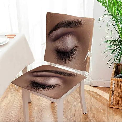 Amazon.com: Juego de 2 piezas de almohadillas para silla ...