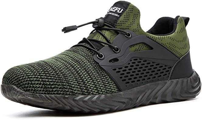 Zapatos de Seguridad para Hombre Mujer Comodos Ligeros Calzado de Trabajo con Punta de Acero Zapatos de Deportivos: Amazon.es: Zapatos y complementos