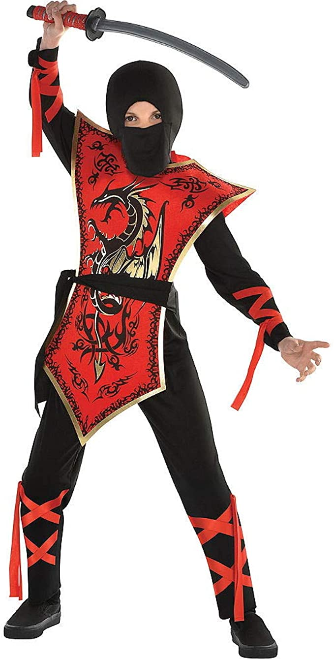 Boys Ninja Assassin Red Dragon Costume