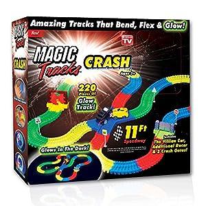 New! As Seen On TV 220 Piece Magic Tracks Crash Set - Glow In The Dark