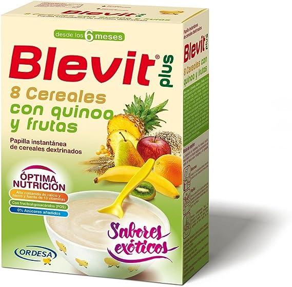 Blevit Plus 8 Cereales, Quinoa y Fruta, 1 unidad 300 gr. A partir de los 6 meses.: Amazon.es: Alimentación y bebidas