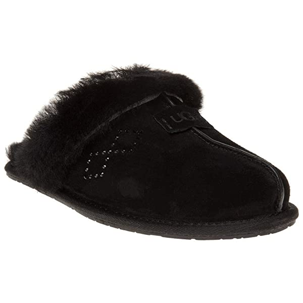 Amazon.com | UGG Women's Scuffette Ii Crystal Diamond Black Black 7 Medium | Slippers