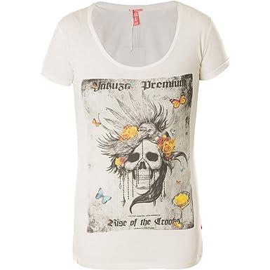 5230d8b1f9669f Yakuza Premium Damen T-Shirt GS-2534 Natur Weiß  Amazon.de  Bekleidung