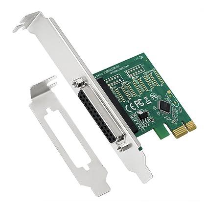 amazon com shinestar pcie parallel port card, pci express to db25