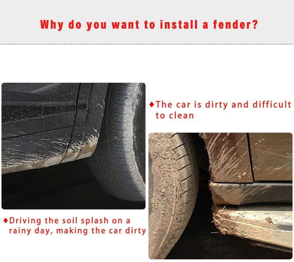 Maite Car Front and Rear Mud Flaps Splash Guards Fender Mudguard for Subaru Legacy 2015-2017 4Pcs