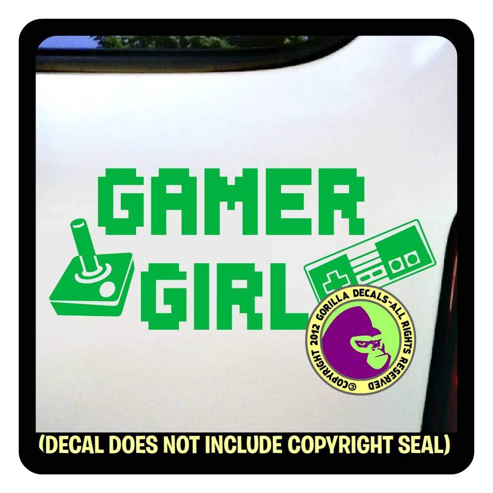 amazon com gamer girl player video game playstation atari sega vinyl decal sticker f handmade amazon com