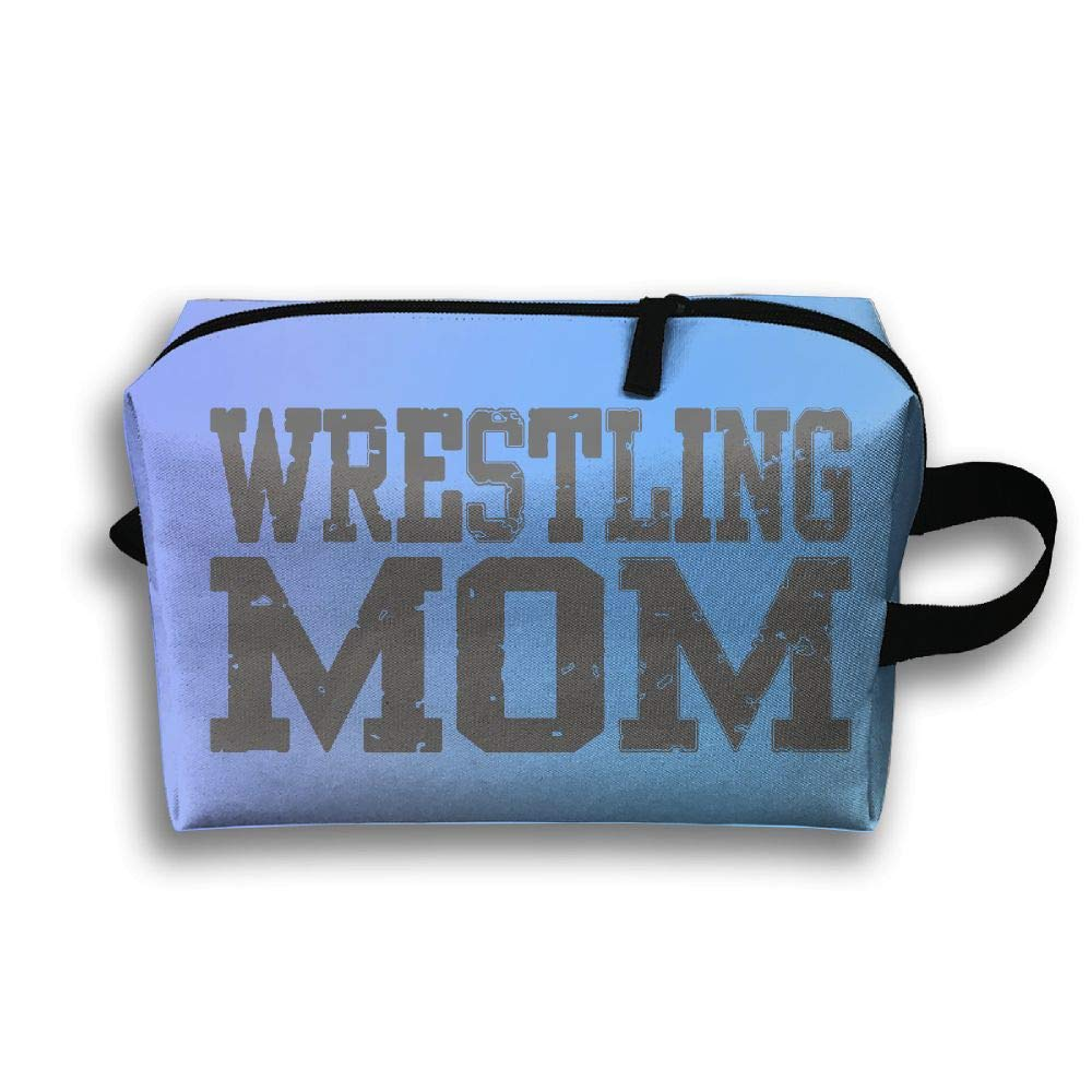 Travelling Makeup Pouch Wrestling Mom 3 Cosmetics Case Organizer Bag Zipper