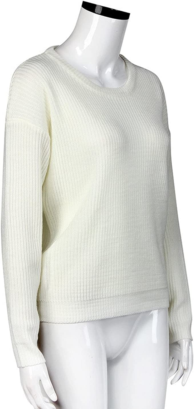 LADIES ROUND NECK LONG SLEEVE WOMENS COLOR BLOCK SMART JUMPER SWEATER UK 8-18