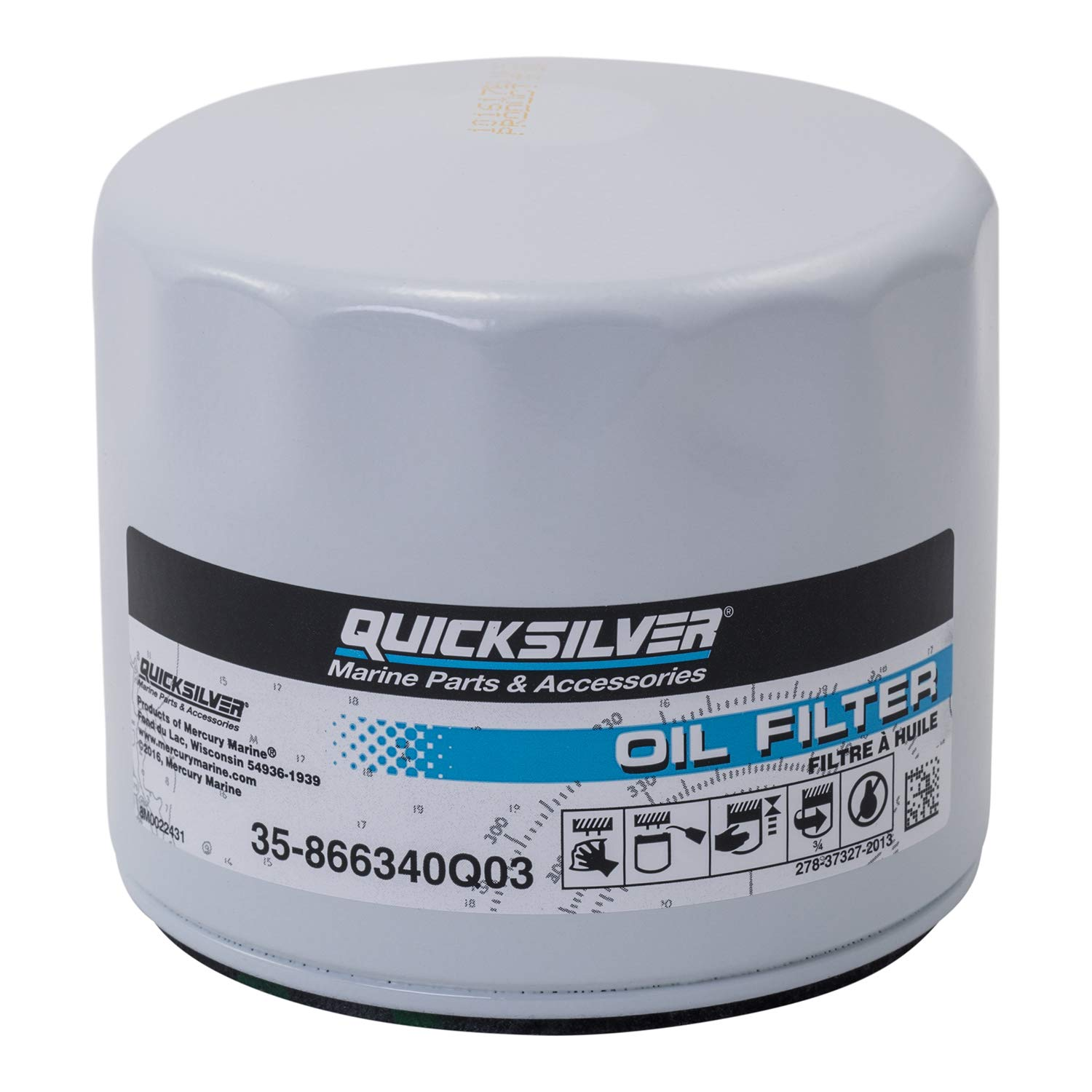Quicksilver 866340Q03 Oil Filter - MerCruiser Stern Drive and Inboard Engines Mercury Marine