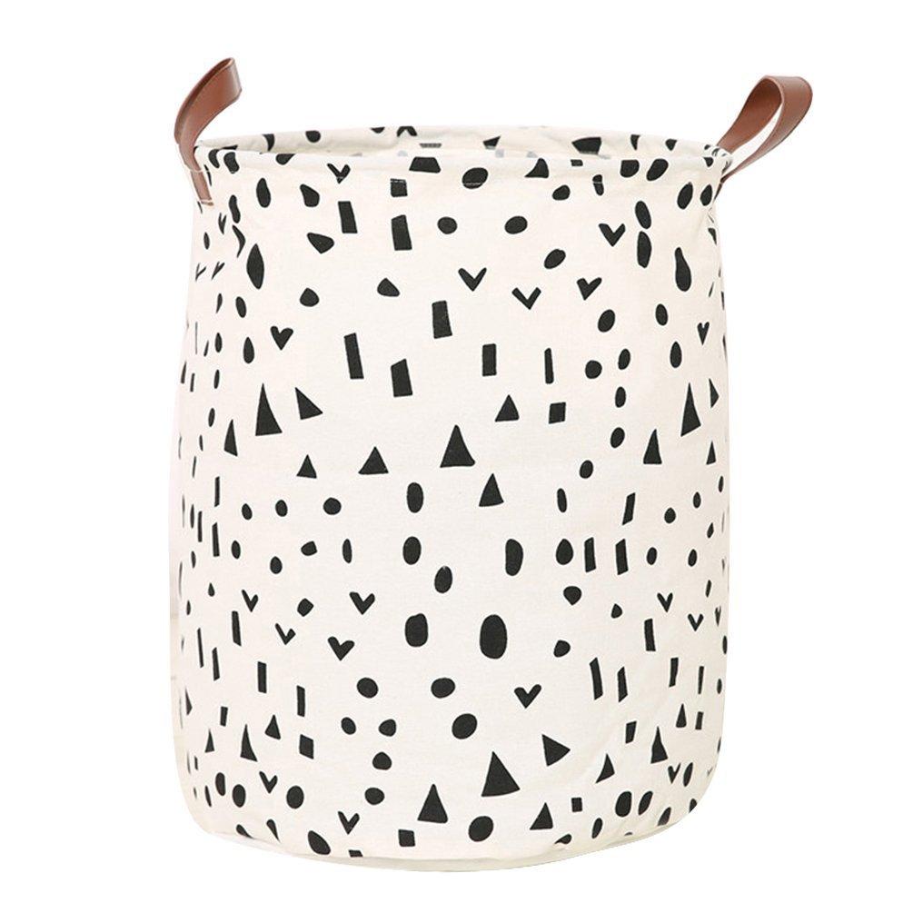 Cesto in stile nordico in tela, cesta portabiancheria o contenitore per giocattoli e vestiti dei bambini, Tela, 1#, taglia unica Greenlans
