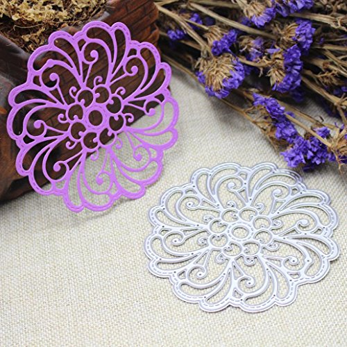 Cutting Dies for Card Making, Staron Metal Cutting Dies Stencil Flower Hearts Happy Birthday Cut Die Template Mould for DIY Scrapbook Embossing Album Paper Card Craft (R) by Staron (Image #1)