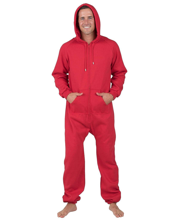 Joggies - Red Adult Footless Hoodie Onesie Footed Pajamas Holiday ... 164b5b902