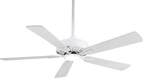 Minka-Aire F556L-WH Contractor 52 LED Ceiling Fan in White Finish