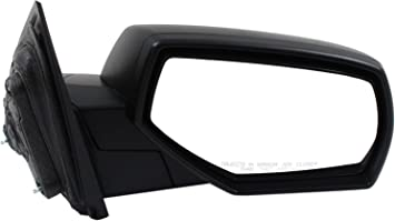 Mirror for Chevy Silverado//Sierra 1500 14-17//2500 HD//3500 HD 15-17 Right Side All Cab Types Textured Black
