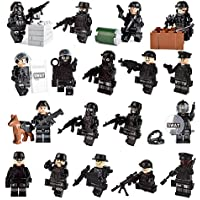 color mogu Army Minifigures SWAT Team With Military...