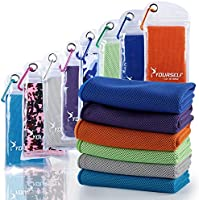 """Syourself Cooling Towel for Instant Relief - Cool Bowling Fitness Yoga Towels -40""""x12"""" Use as Cooling Neck Headband Bandana Scarf Stay Cool for Travel Camping Golf Football &Outdoor Sports"""