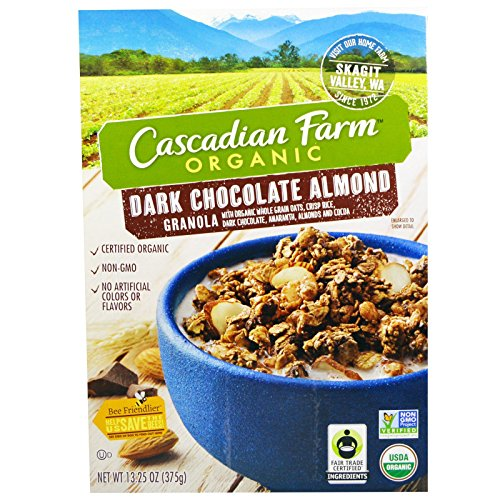 Cascadian Farm: Organic dark chocolate almond Granola (1 x 13.25 oz)