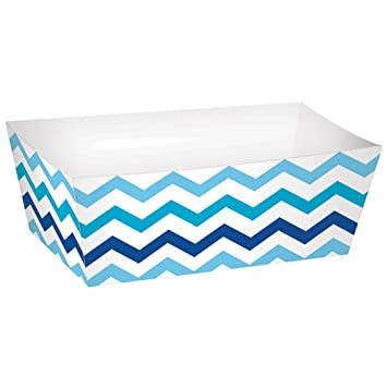 Amscan – 148001 azul Buffet bandejas de papel rectángulo